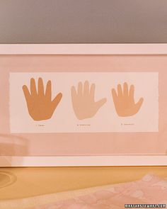 Memo decoration - cut out of Raegan's hand prints...this is something I should do!