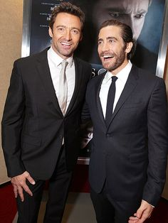"""Hugh Jackman, Jake Gyllenhaal at the premiere of """"Prisoners""""! YES! I want to see this movie. :)"""