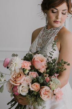 Vintage Flower-Filled Wedding Inspiration - Polka Dot Bride