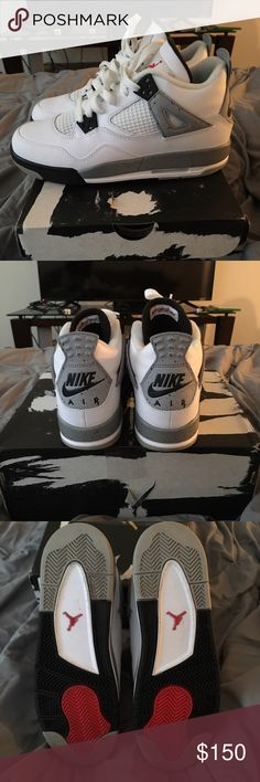 Jordan OG Cement 4 Size 7y Worn once. Bought from another seller but didnt fit. They sent the shoes in the box and taped it so the box is messed up. Shoes in new condition Shoes Sneakers