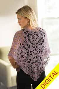 Mandala #Shawl #Broomstick Lace Digital #Crochet Pattern from Love of Crochet magazine, Spring 2015