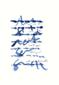 Asemic writing - by mila blau