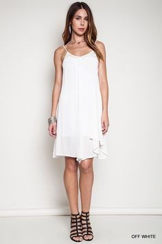 Umgee asymmetrical lace dress