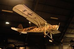 Fieseler Fi-156C-1 Storch in the World War II Gallery at the National Museum of the United States Air Force. (U.S. Air Force photo)