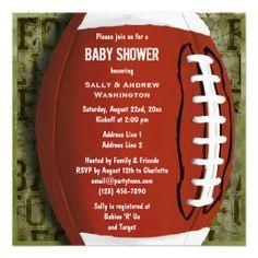 Printable Football Baby Shower Invitation denver broncos dallas