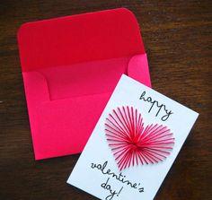 Tarjeta de san Valentín con corazón bordado | Solountip.com