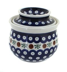 Polish Pottery Nature French Butter Dish