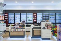 Klindwort-Apotheke im LUV, Lübeck Medical Office Design, Pharmacy Design, Retail Design, Gift Shop Displays, Shop Window Displays, Digital Retail, Pharmacy Store, Store Layout, Retail Shop
