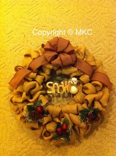 Another Christmas burlap wreath I made.