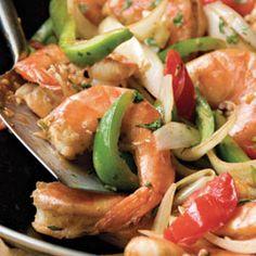 Chinese Trinidadian Stir-Fried Shrimp with Rum