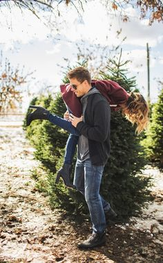 If I can carry you, I can carry a Christmas tree......