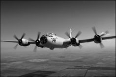 Boeing B-29 Superfortress B+W Aircraft Print © 2017 Bill Crump Photography for The SkegWorks