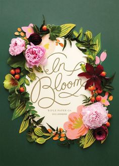 Paper and real flower wreath inspiration