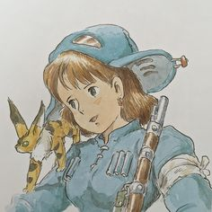Illustrations done for the Nausicaa manga ===== Manga began running in monthly 'Animage' in Feb. 1982, collected in order of appearance ===== Notes: I have no idea when I drew this.