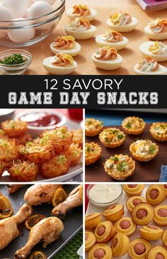 Football games and indulgent, comforting, savory food just seem to go hand in hand. Whether you're watching the game at home, at a friend's house or tailgating at the stadium, these 12 savory game day snacks are sure to get your snack game on!