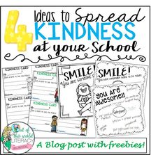 A blog post with a freebie to help spread kindness!