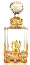 Antique Napoleon III Scent Bottle w/Brass Ormolu