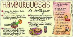 Hamburguesas de lentejas Vegan Vegetarian, Vegetarian Recipes, Healthy Recipes, I Love Food, Good Food, Chilean Recipes, Chilean Food, Cooking Tips, Cooking Recipes