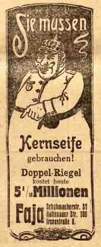Ein Stück Seife 5.500.000 Reichsmark