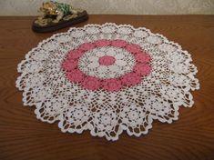 White Crochet Napkin Crochet Table Doily by DoliaGalinaCrochet