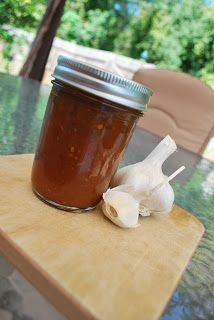Home canned zesty peach barbeque sauce