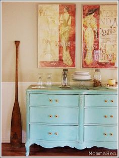 I love the color of this dresser, think I will repaint one of mine and take it up to SGI house.