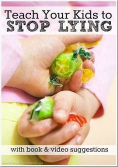 Teach Your Kids to Stop Lying with these tips, along with book and video suggestions for helping you initiate great discussions about the importance of truth with your kids.