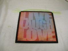 Amazon.com: Live Laugh Love Wooden Wall Art Sign Teen Girls Bedroom Decor: Home & Kitchen
