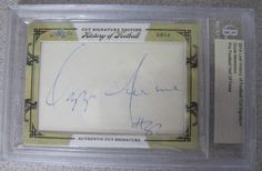 2014 LEAF HISTORY OF FOOTBALL CUT SIGNATURE HALL OF FAME OZZIE NEWSOME BROWNS