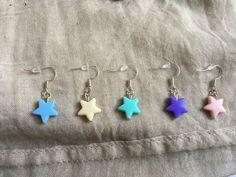 Lovely stars earrings in some colors by drsenorita on Etsy Star Earrings, Drop Earrings, Sea And Ocean, Boho Wedding, Favorite Color, Fashion Dresses, Peach, Turquoise, Stars