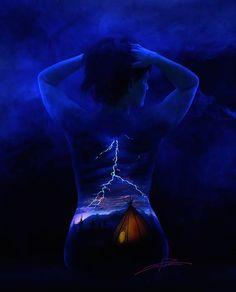 Bodyscapes: Spectacular Black Light Body Art Photography by John Poppleton