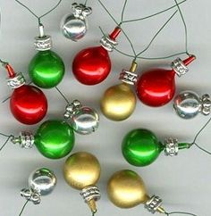 how to christmas ornaments and make a centerpiece tree from 2 puny trees - How To Make Miniature Christmas Decorations