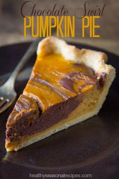 Chocolate Swirl Pumpkin Pie recipe.....my two favorite kind of pies in one??? It could be good...idk
