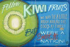 Kiwi Fruit by Jason Kelly - prints Retro Caravan, Kiwiana, My Point Of View, Word Art, How To Look Pretty, Typography, Mood, Caravans, Prints