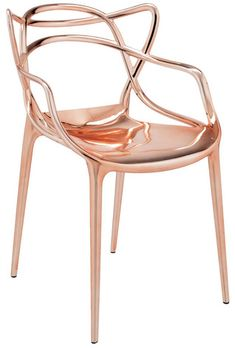 The Precious Masters Arm Chair is a powerful tribute to the three symbolic chair, re-read and re-interpreted by the creative genius of Starck. The unmistakable