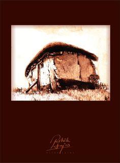 Ritók Lajos tus rajz Vókonya tanya, Ink drawing