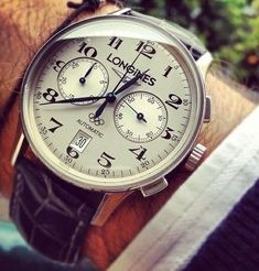 Pure Class Watch - Longines automatic chronograph with Olympics logo. Amazing Watches, Beautiful Watches, Cool Watches, Watches For Men, Dream Watches, Fine Watches, Luxury Watches, Men's Watches, Rolex