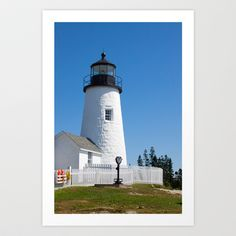 Pemaquid Point Maine Art Print by RoccoBrovo - $20.00