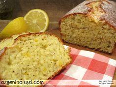 İçi yumuşak puf puf limonlu bir kek.