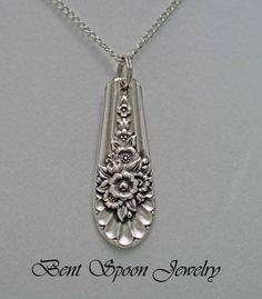 Silverware Jewelry, Spoon Jewelry, Spoon NECKLACE Pendant, Jubilee 1953