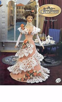 Annie's Attic Potter Miss August Bridal Trousseau Doll Crochet Pattern Book