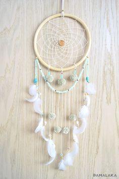 Dreamcatcher Dream Catcher Gypsy pastel - www. Dreams Catcher, Beautiful Dream Catchers, Diy And Crafts, Arts And Crafts, Dream Catcher Mobile, Hanging Ornaments, Snowman Ornaments, Suncatchers, Wind Chimes