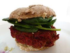 green lentil and beetroot burger. #vegan.