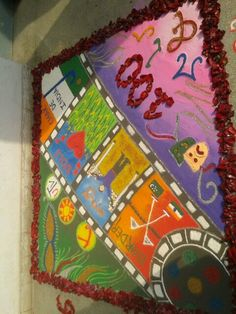 "rangoli on 100 years of bollywood in ""reverie 14"" gargi college"