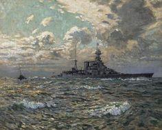 HMS Hood - Charles David Jones Bryant Hms Hood, Royal Navy, David Jones, Charles David, Drawings, Painting, Sea, Painting Art, Sketches