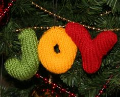 Free Knitting Pattern for Joy Ornament