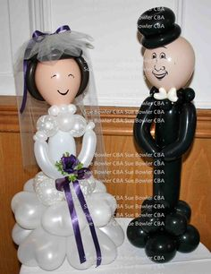 The Very Best Balloon Blog: Bride & Groom Balloon Sculpture Recipe