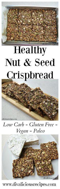 nut seed crispbread Recipe: http://divaliciousrecipes.com/2016/06/20/healthy-nut-seed-crispbread/