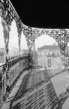 """""""To the stranger for the first time threading his way through its narrow streets, the old French Quarter of New Orleans seems like a city of iron lace, so lavishly did the old Creole  builders make use of the wrought metal."""" --New Orleans, City of Iron Lace by Harriet Joor, 1906"""