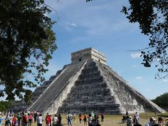 The Pyramid at Chichen Itza.